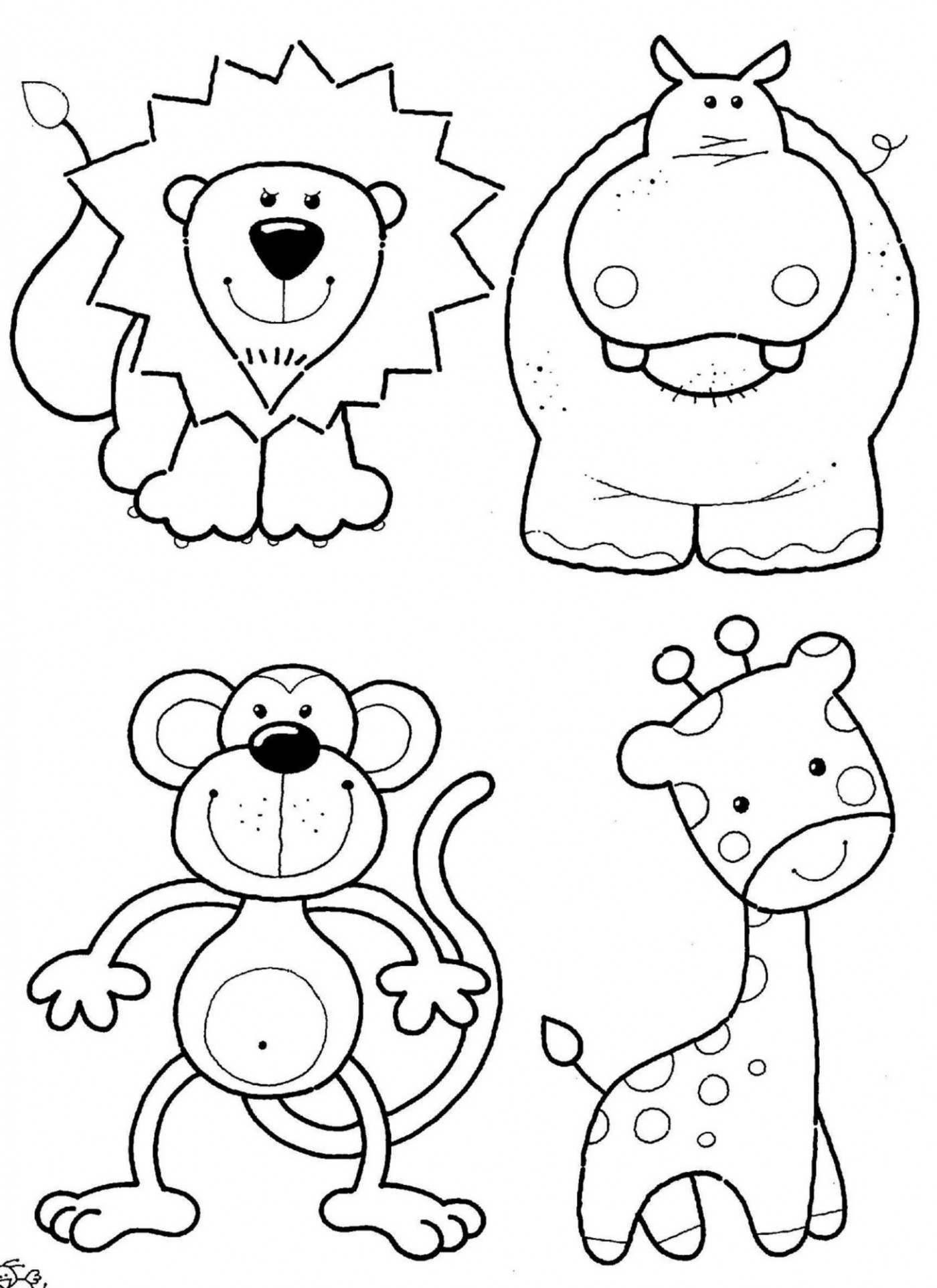 children coloring pages free animals - photo#10