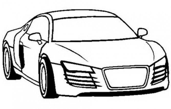 Audi S3 Car Coloring Page  Coloring Kids