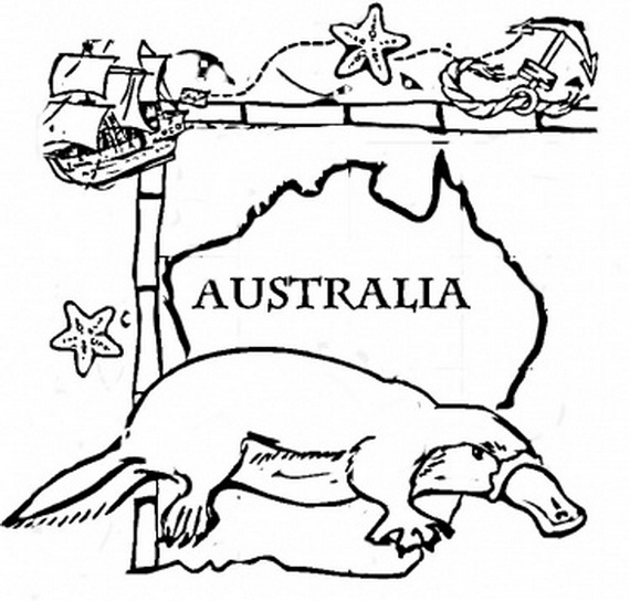 australia day coloring pages - Australia Coloring Pages Kids