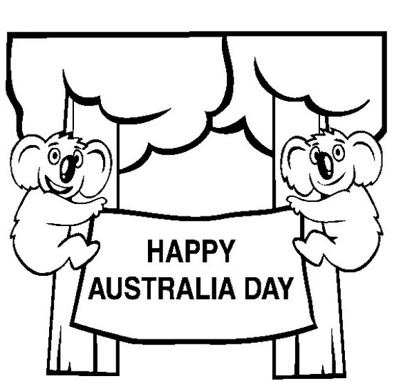 Australia Day Coloring Pages 5 Coloring Kids Australia Day Coloring Pages