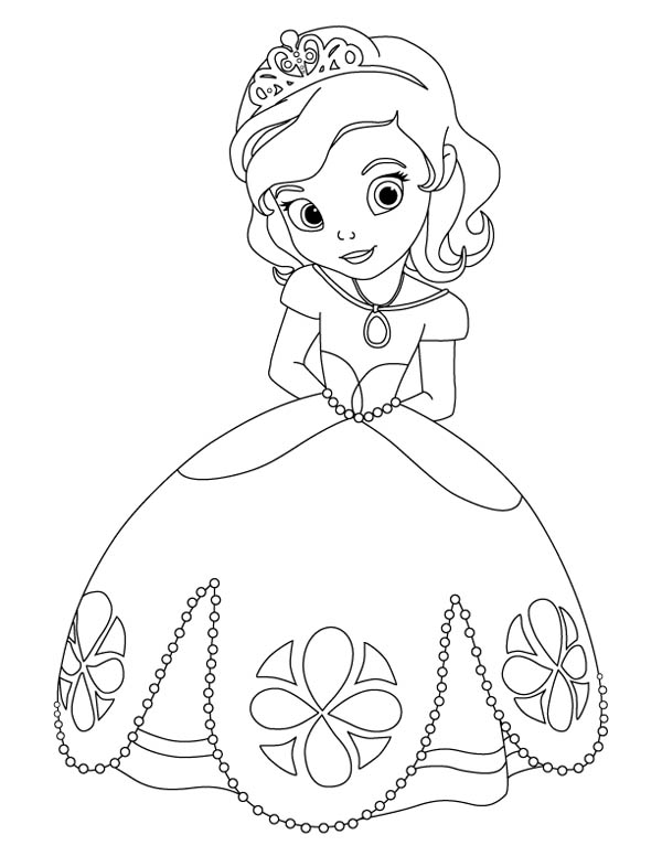 Princess Sofia Coloring Pages Games : Awesome princess sofia the first coloring page kids