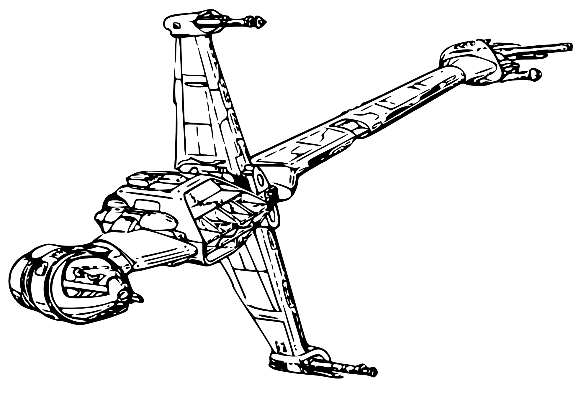 Coloring page x wing - Star