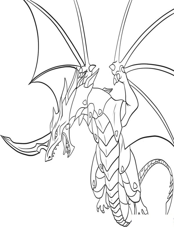 Coloriage Bakugan Drago à Imprimer Colorier Dessin Sketch ...