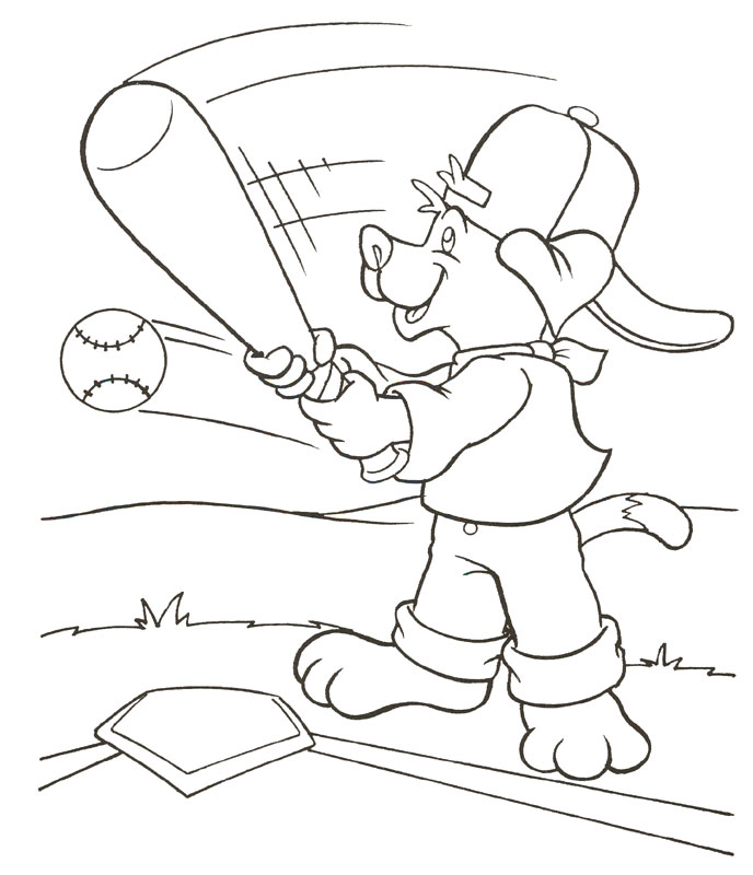 Download Baseball Coloring Pages 11 Print
