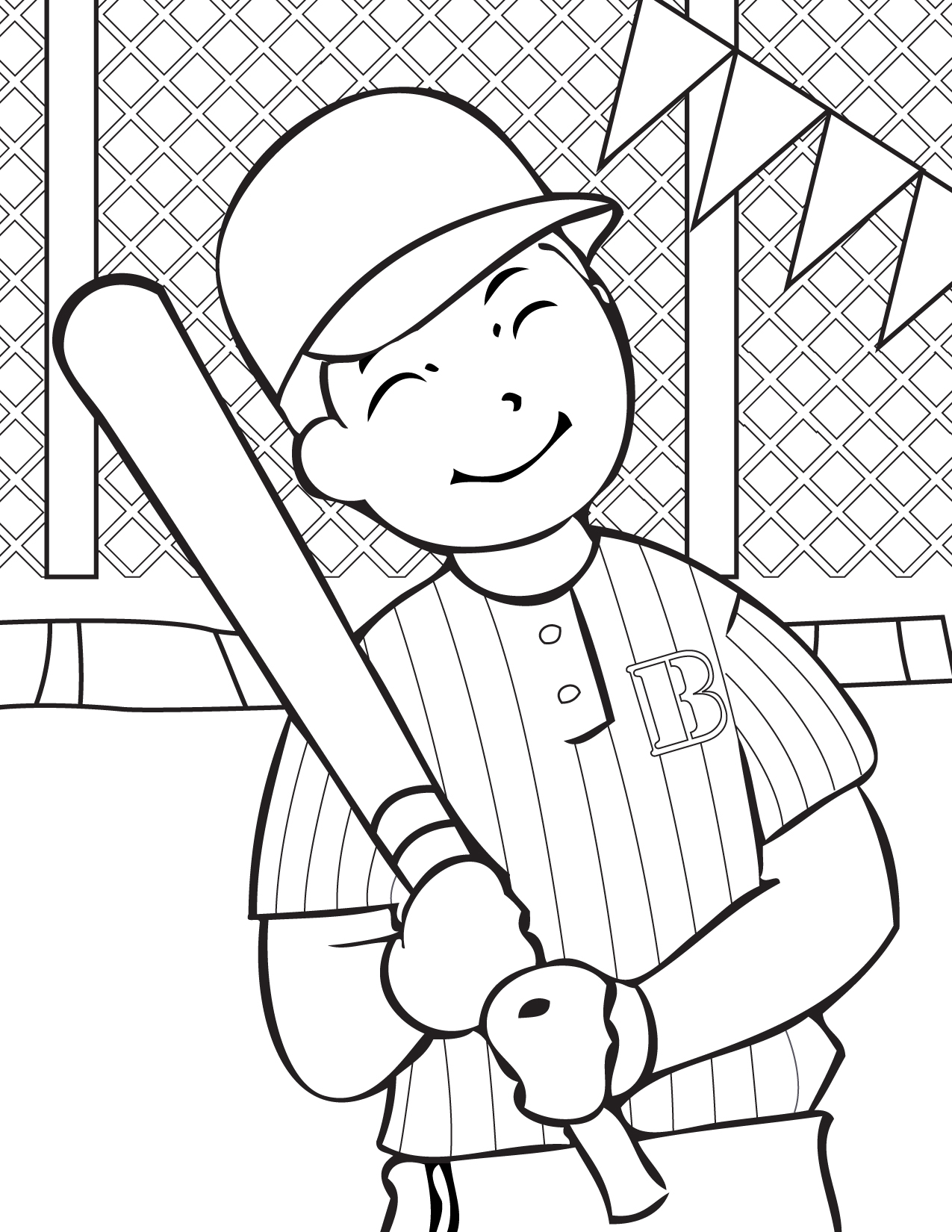 download baseball coloring pages 15 print - Sports Coloring Sheets To Print