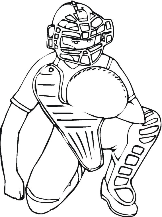 Baseball coloring pages 6 coloring kids for Baseball coloring pages for kids