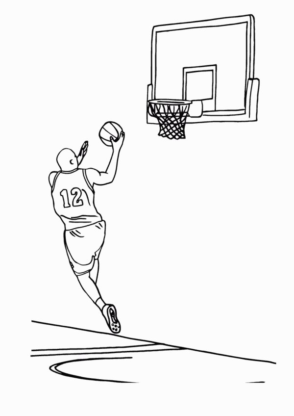 Real Basketball Coloring Pages. Basketball Coloring Pages  4 Kids
