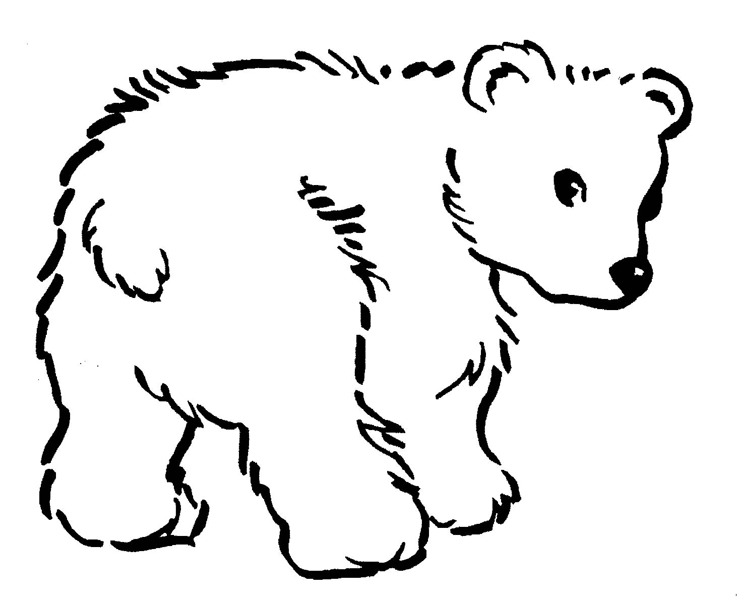 Bear Coloring Pages (6) - Coloring Kids
