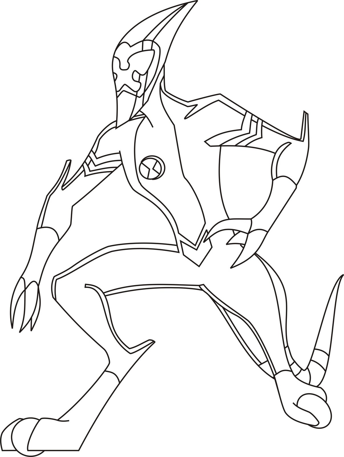 Ben 10 Coloring Pages Gorgeous Ben 10 Coloring Pages  Coloring Kids