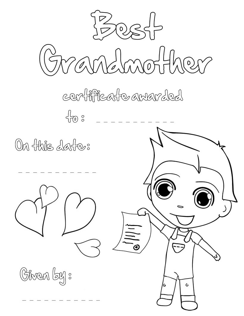 Grandparents Day Coloring Pages Happy Grandparents Day