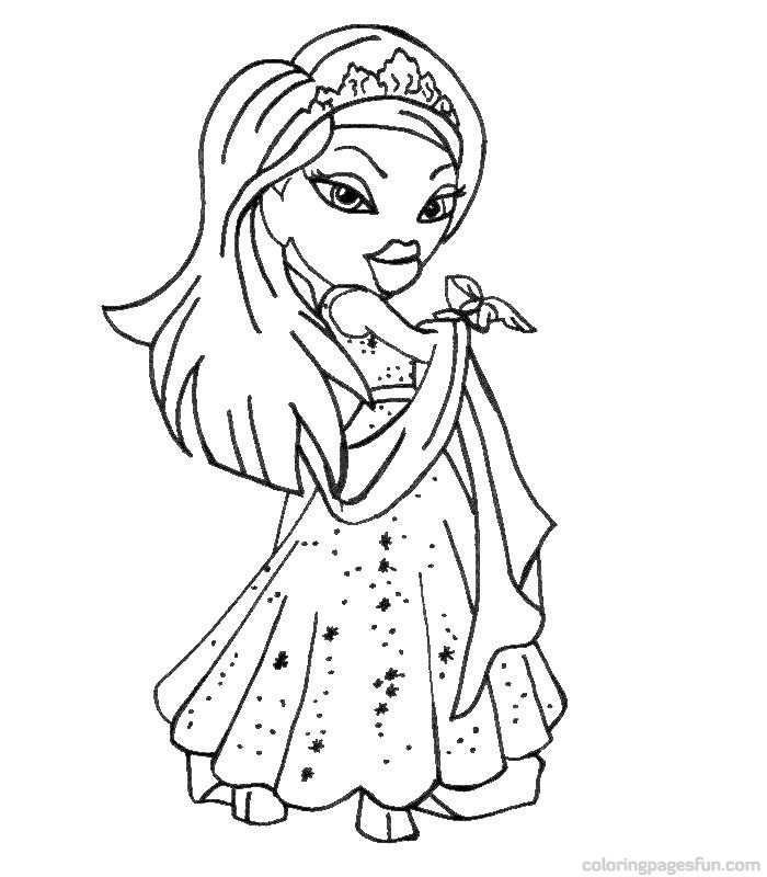 Coloring Pages Bratz Glamorous Bratz Coloring Pages 17  Coloring Kids