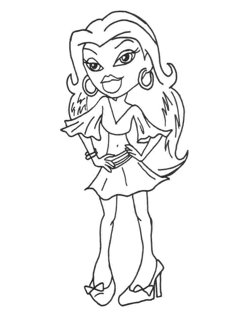 Bratz Coloring Pages 18 Coloring Kids