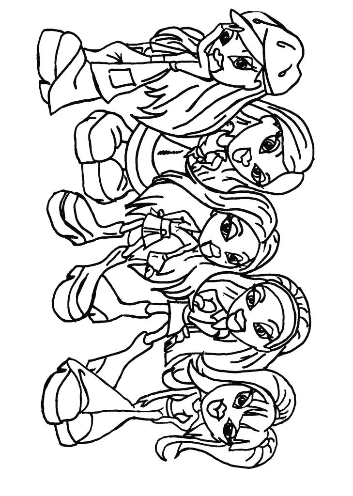 Bratz Coloring Pages 22 Coloring