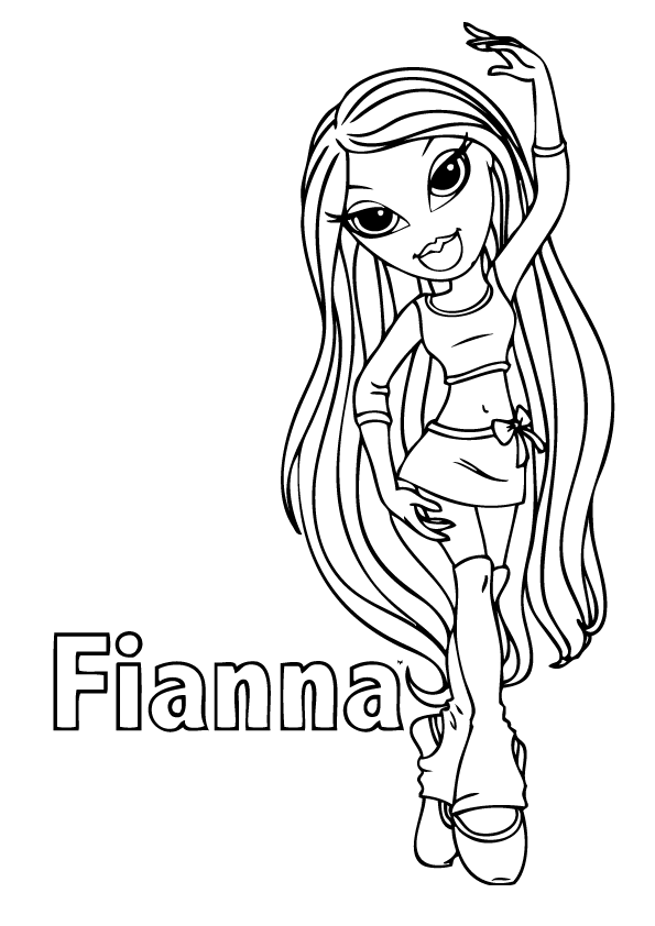 Bratz Coloring Pages 7 Coloring Kids