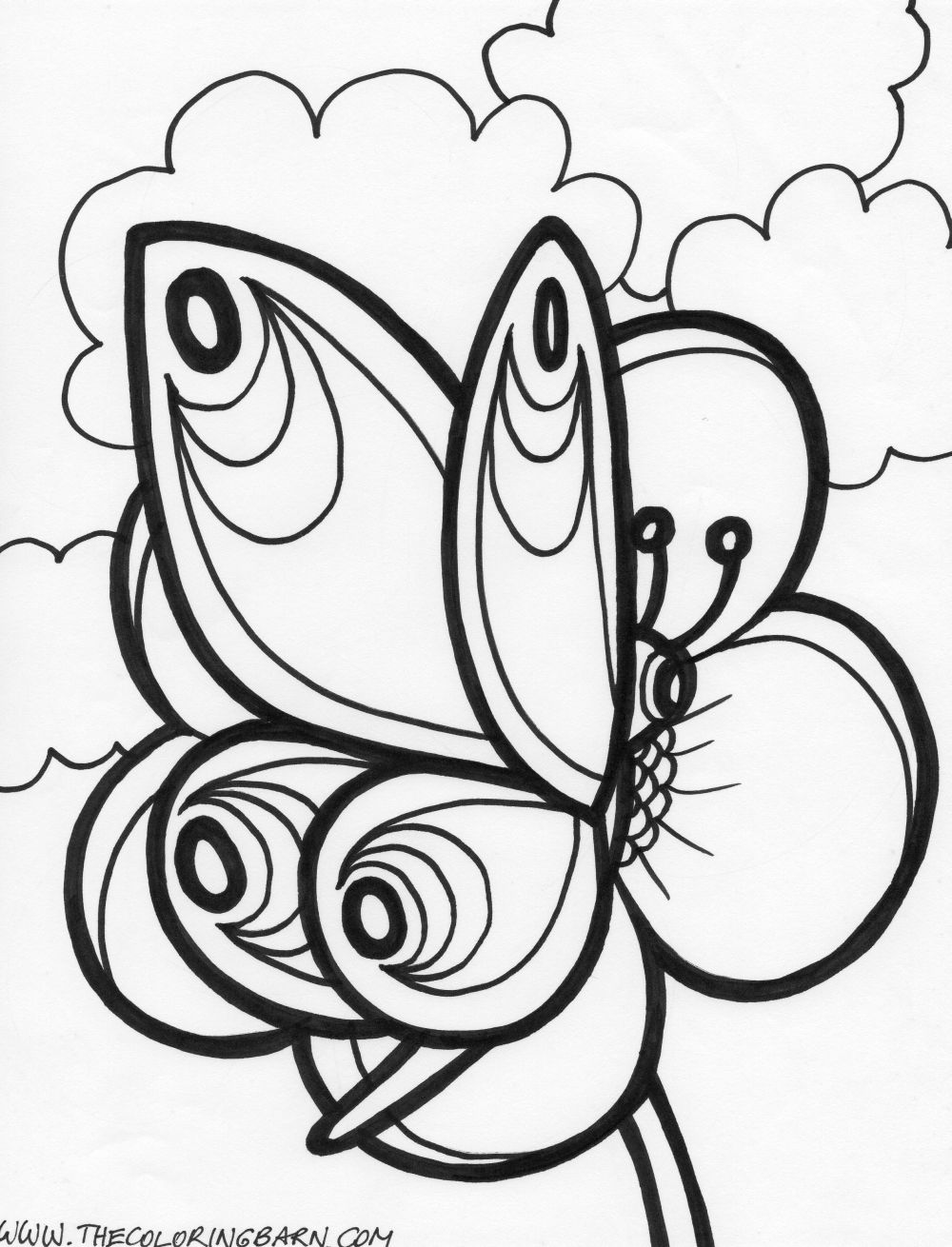 butterfly coloring pages - Coloring Pages Butterfly Kids