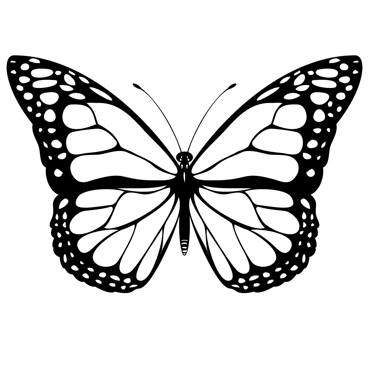 Butterfly Coloring Pages Butterfly Coloring Pages 6  Coloring Kids