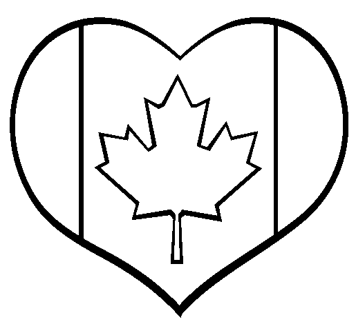 download canada heart coloring page