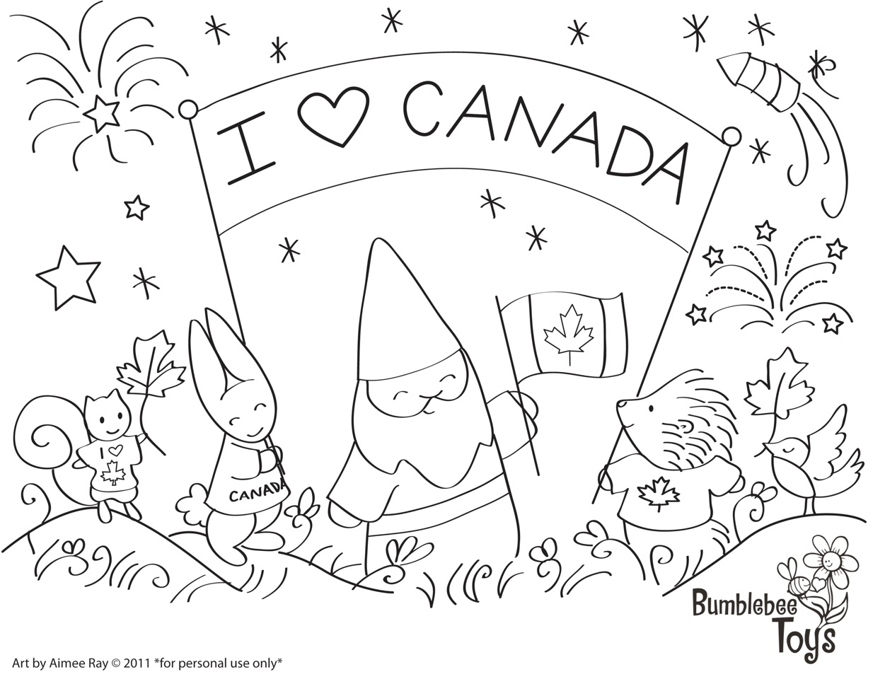 Canada Day Coloring Kids Canada Coloring Pages