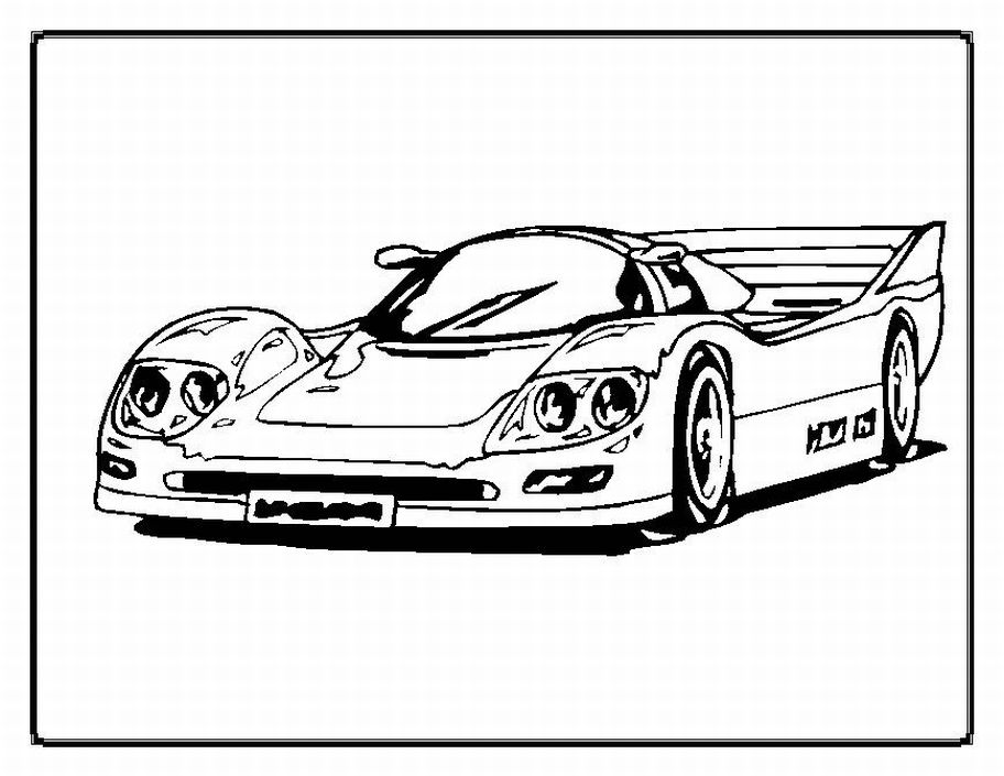 Download Car Coloring Pages 7 Print
