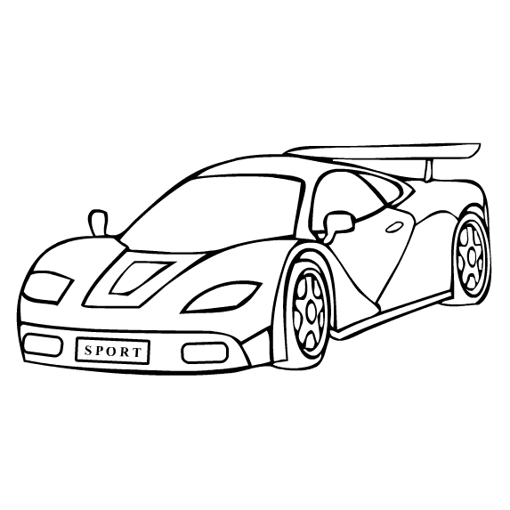Car coloring pages printable 63 free printable coloring for Free car coloring pages to print