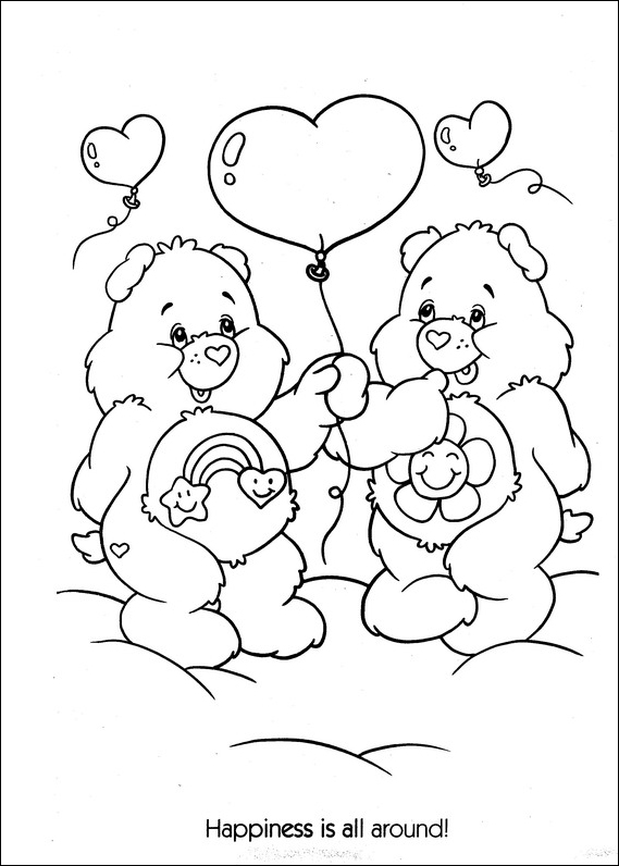 care bear coloring pages kids - photo#12