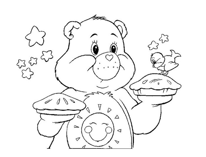 care bear coloring pages kids - photo#24