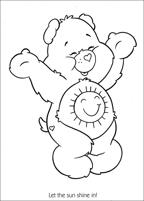 care bear coloring pages kids - photo#34