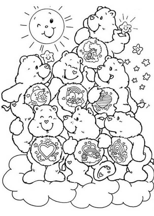 Care Bears Coloring Pages 4 Coloring Kids