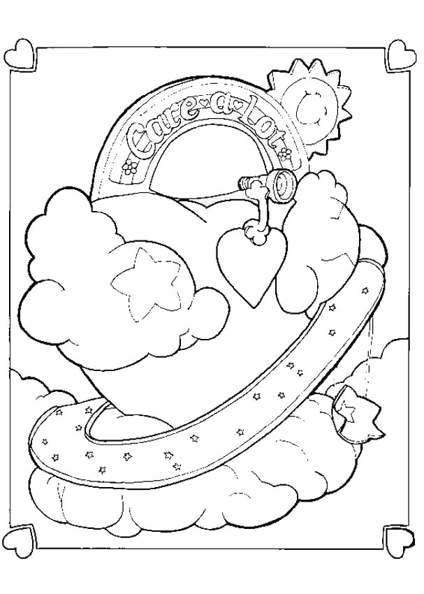 care bear coloring pages kids - photo#30