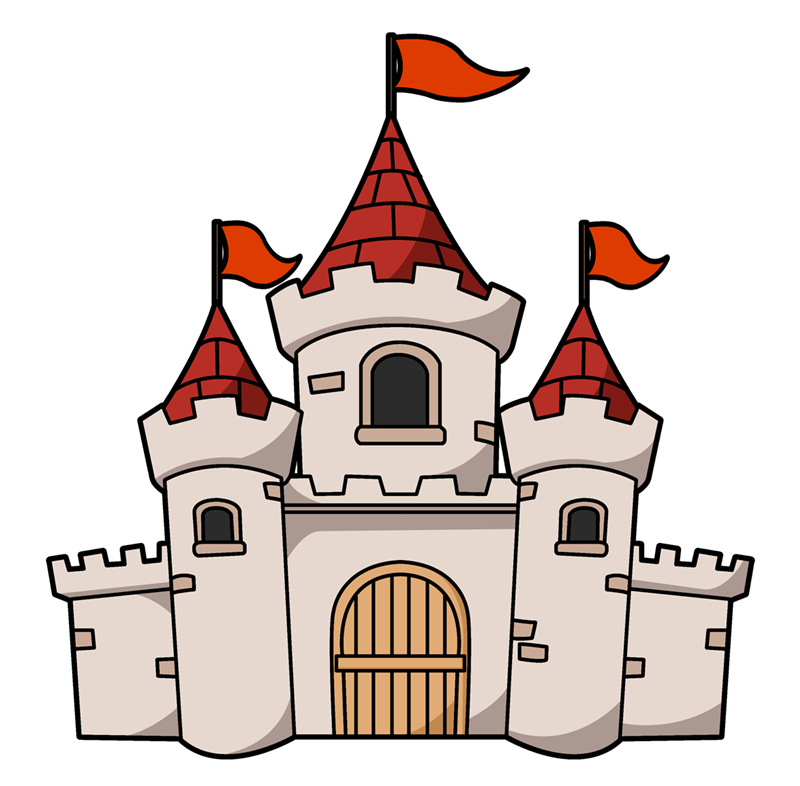 Castles Coloring Pages