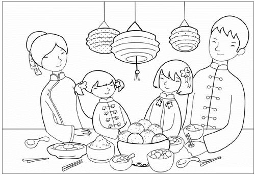 Chinese new year colors | coloring pages for adults,coloring pages …