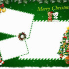 christmas cards templates 5 140x140 Christmas Coloring Cards