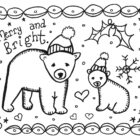 christmas coloring cards 3 140x140 Christmas Coloring Cards