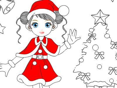 Christmas Coloring Cards Design Ideas (1)