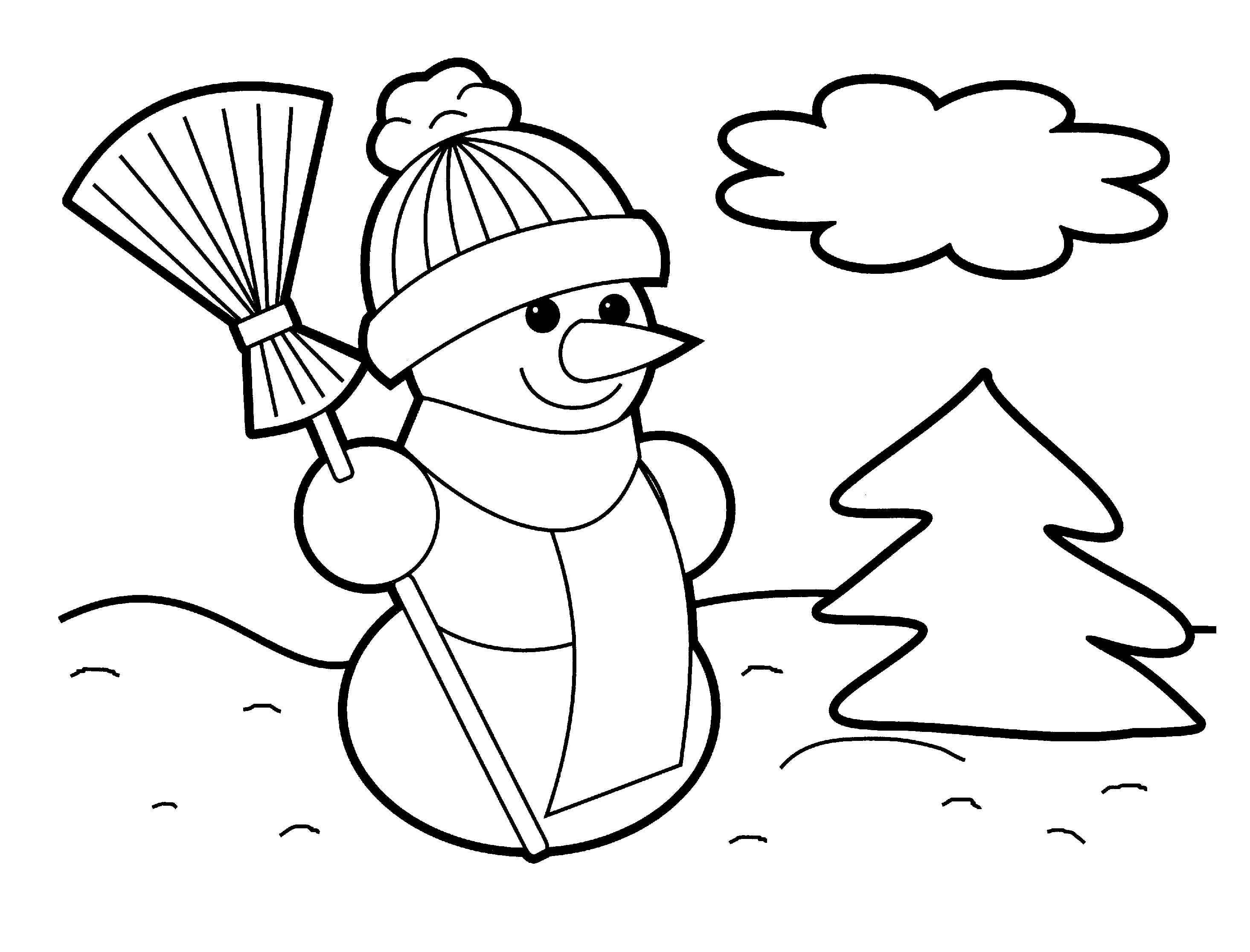 download christmas coloring pages 1 print - Christmas Print Coloring Pages