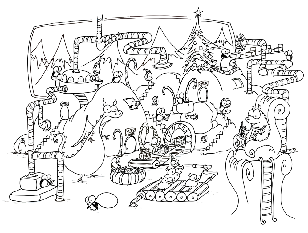 download christmas coloring pages 1 print