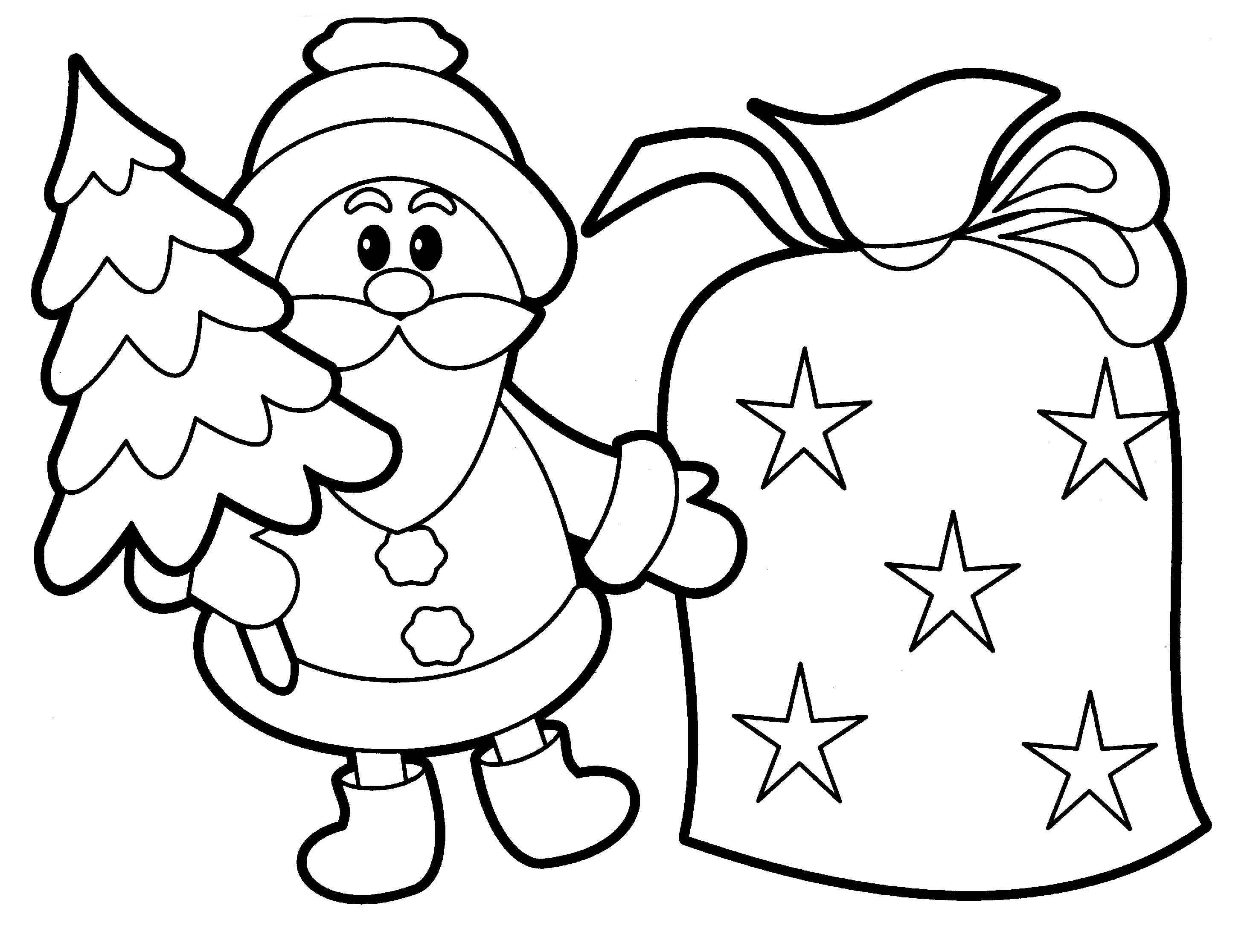 free kids christmas coloring pages - photo#8