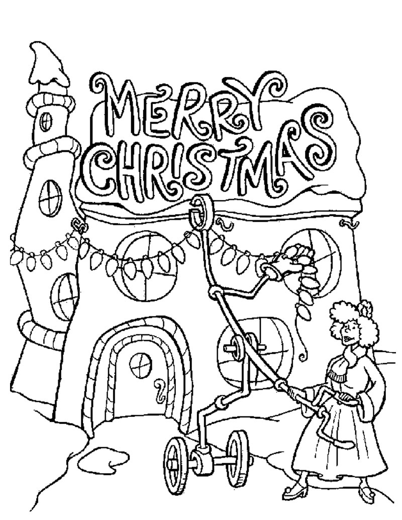 Christmas coloring in pages printable - Christmas Coloring Pages