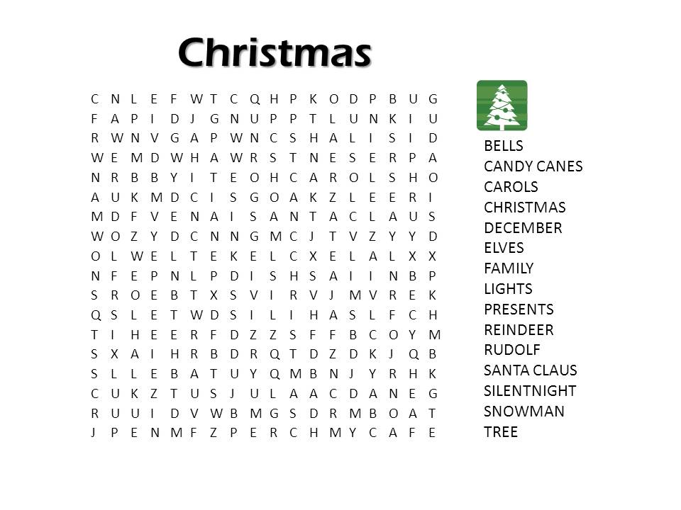 20 Fun Printable Christmas Crossword Puzzles ... |Christmas Word Games Free Online