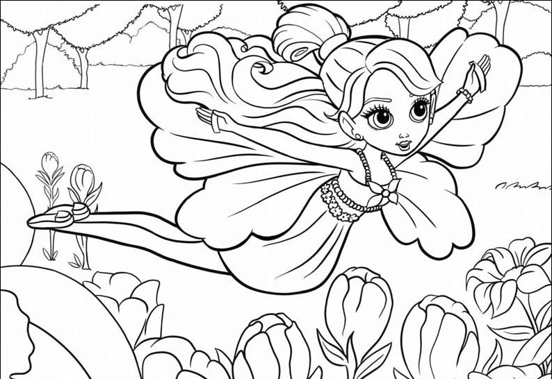 Coloring Pages For Girls (17) | Coloring Kids