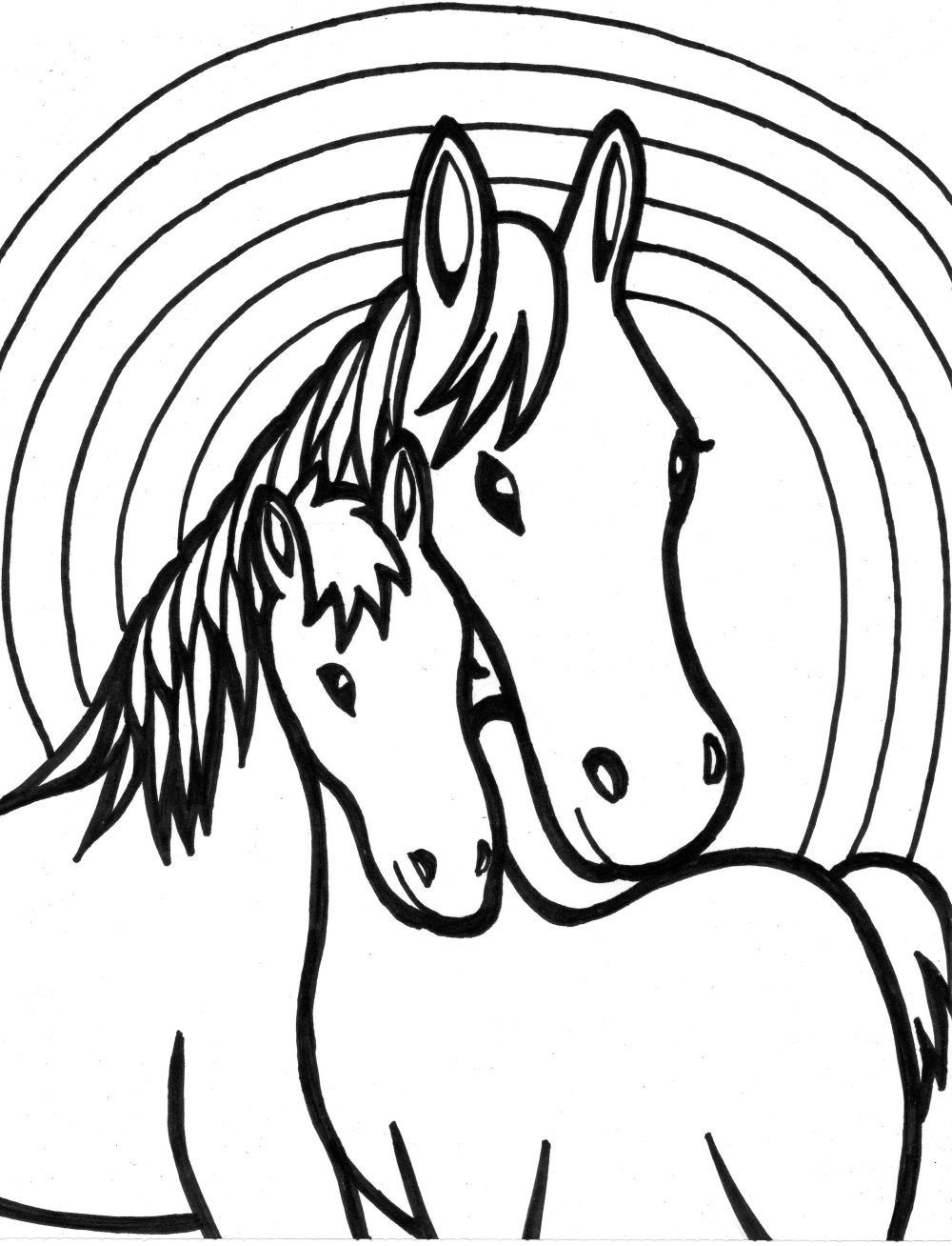 coloring pages for girls - Horse Color Pages
