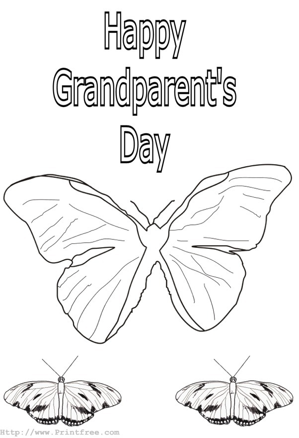 coloring pages for grandparents day az coloring pages