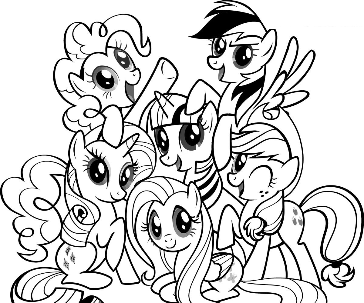 download coloring pages my little pony - Pony Coloring Pages
