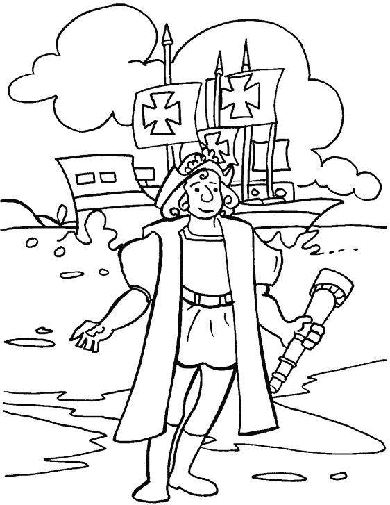 Columbus Day Coloring Pages 16 Coloring Kids Imagenes De Columbus Day For Coloring