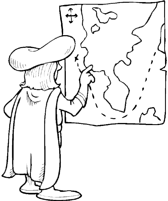 Columbus Day Coloring Pages (3) | Coloring Kids