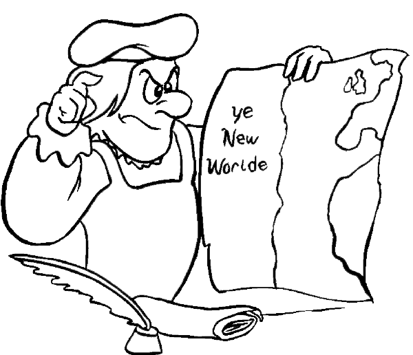 Columbus Day Coloring Pages 4 Coloring Kids Imagenes De Columbus Day For Coloring