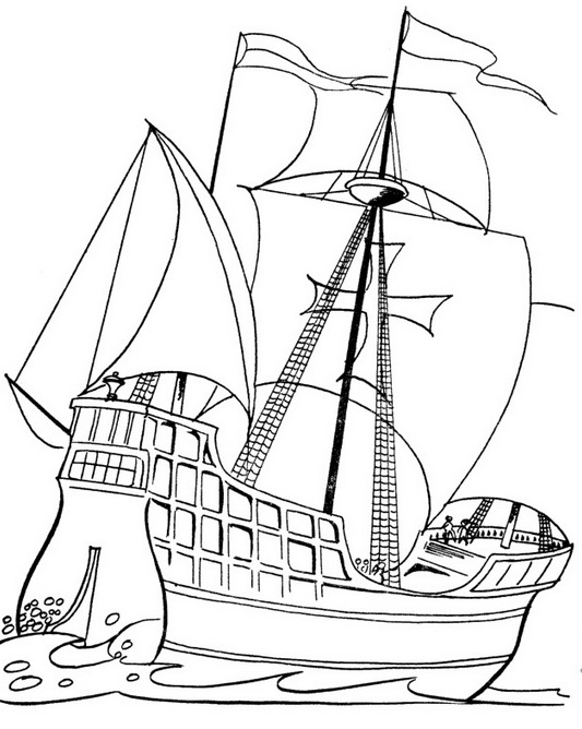 columbus day coloring pages  6