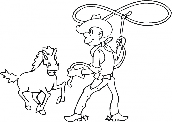 Cowboy Coloring Pages 18 Coloring Kids