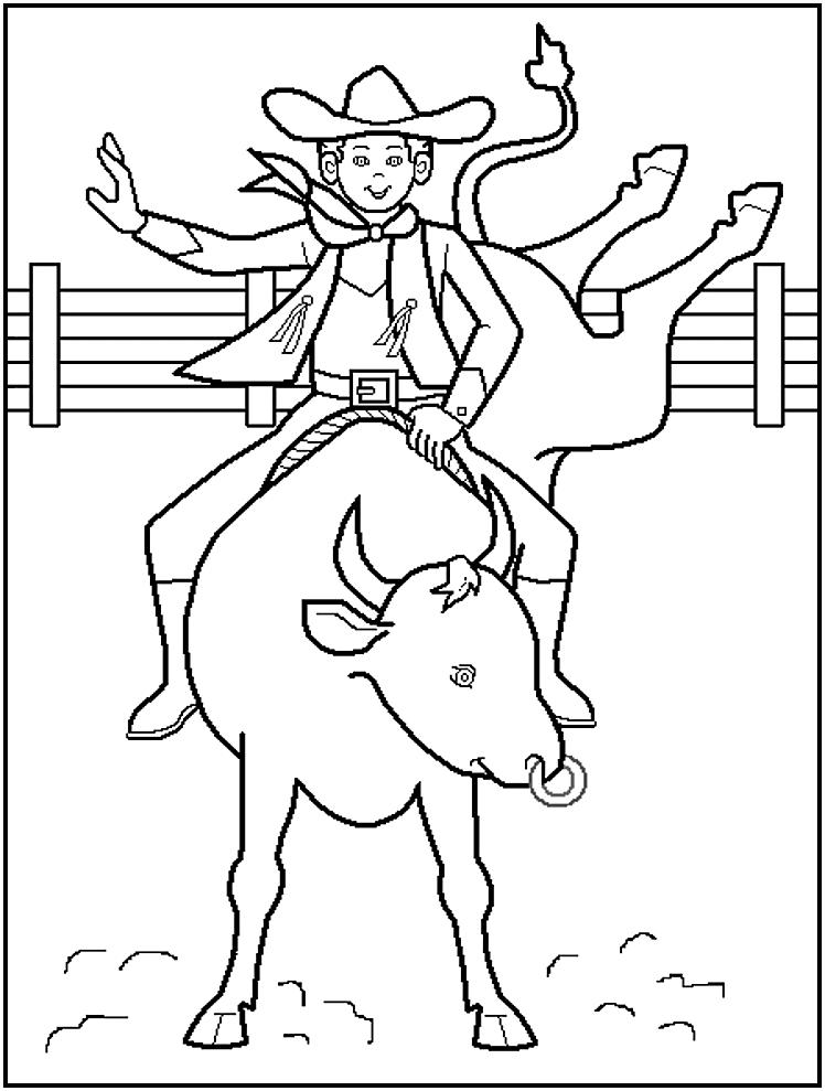 Cowboy Coloring Pages (2) | Coloring Kids