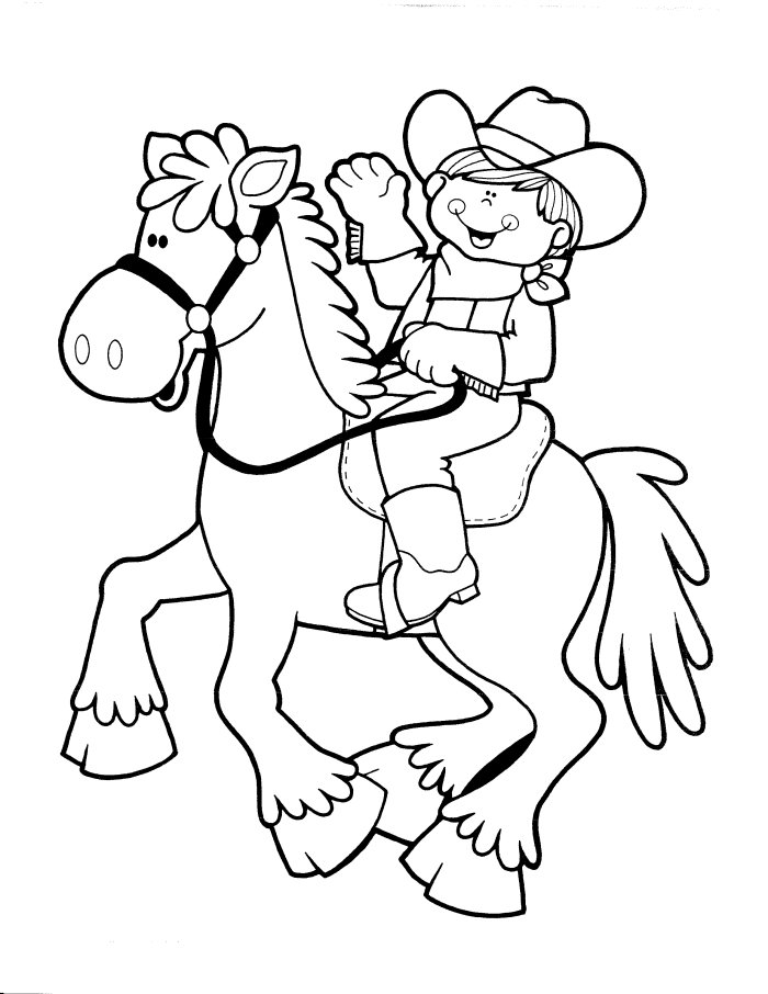 Cowboy Coloring Pages 5 Coloring Kids